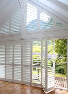 Normandy Shutters are made from the world's fastest growing tree species, our Normandy timber shutters are not only gentle to the touch, but are gentle on the environment too. Fast Growing Trees, Wood Shutters, Normandy, Patio, Room, Furniture, Home Decor, Terrace Design, Fastest Growing Trees