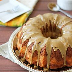 Pumpkin Cream Cheese Bundt Cake - delicious, the amount of pumpkin is just right, not overpowering. I used sour cream instead of yogurt because thats what i had. The cake is almost too moist, i think the oil is probably not necessary. CL 7/10/13