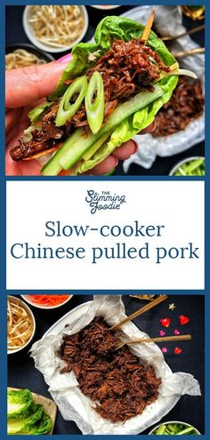 Slimming World slow-cooker Chinese pulled porkYou can find Slimming world recipes slow cooker and more on our website.Slimming World slow-cooker Chinese pulled pork Healthy Chinese Recipes, Easy Healthy Recipes, Asian Recipes, Chinese Slow Cooker Recipes, Slow Cooker Party Recipes, Crockpot Pork Recipes, Tacos Crockpot, Slow Cooker Slimming World, Easy Slimming World Recipes