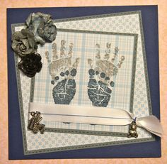 Baby Card with Hand- and Footprints