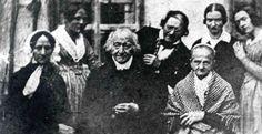 Constanze Weber Mozart [W.A. Mozart's widow, front left] | 1840