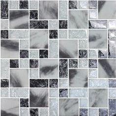 Crackle Crystal Glass Tile Backsplash Kitchen Countertop Ice Cracked Frosted Glass Bathroom Wall Floor Tiles MA14