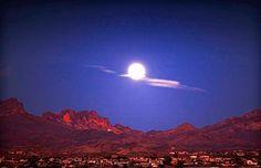 Moon over Bullhead City, Arizona