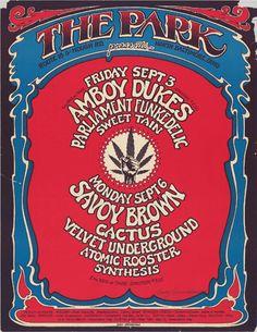 PARK - Amboy Dukes, Parliament Funkedelic, Savoy Brown, Cactus, Velvet Underground, Atomic Rooster