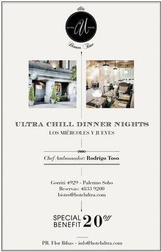 Hotel Ultra. Diseño de flyer promocional. Diseñado por Bunker3022.