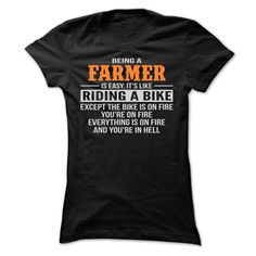 BEING A FARMER T-Shirts, Hoodies. BUY IT NOW ==► https://www.sunfrog.com/Geek-Tech/BEING-A-FARMER-T-SHIRTS-Ladies.html?id=41382