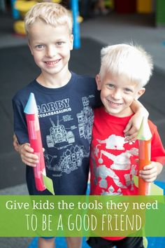 How to give kids the tools to be confident in making friends - and being a good friend.