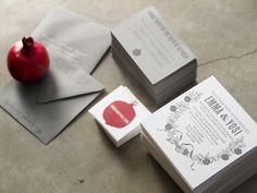 Presshaus LA is a design + letterpress studio in Los Angeles led by Kristine Arellano Wedding Paper, Wedding Cards, Pomegranate Wedding, Wedding Suits, Visual Identity, Fall Wedding, Wedding Ideas, Party Gifts, Letterpress