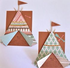 Sur une carte noter les informations, ajouter le tipi col… Diy Teepee, Teepee Party, Indian Theme, Indian Party, Wedding Party Invites, Party Invitations, Indian Invitations, Baby Birthday, Birthday Cards