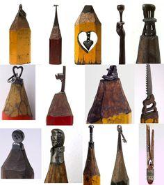 Dalton Ghetti, art, sculpture, pencils, writing utensils