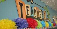 Teachers' Lounge Between Staff Lounge, Teacher Lounge, Teachers Room, Teachers Corner, Classroom Organization, Classroom Decor, Teacher Morale, Staff Morale, Morale Boosters
