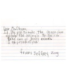 Awesome Kids Letters To The President Dear President Obama