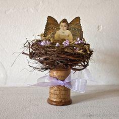 Fairy On a Spool  Spoolie Fairy  Mixed Media Art  by GlamourBomb, $22.00