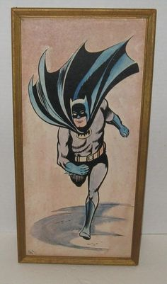 VINTAGE BATMAN PICTURE ART FRAMED