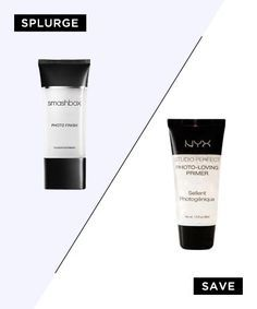 Best Drugstore Dupes for High-End Beauty Products - PRIMER= Smashbox (animal testing in China) vs. NYX (non-animal testing) and NYX does just as great of a job. NYX is the winner.