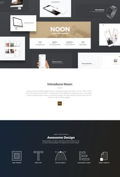 Create stylish landing page for your awesome app