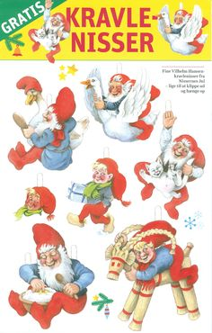 Christmas Colors, Christmas Ornaments, Swedish Traditions, Norwegian Christmas, Merry Happy, Elves And Fairies, Old Postcards, Xmas Decorations, Gnomes