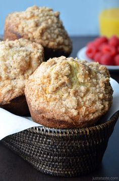 Sour Cream Coffee Cake Muffins with Streusel   http://www.justataste.com/sour-cream-coffee-cake-muffins-with-streusel-topping/