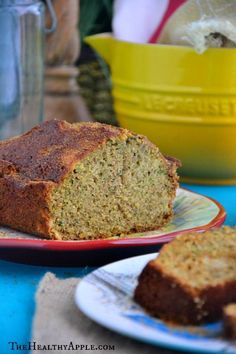 Cinnamon Zucchini Bread - awesome for breakfast! Makes a 12-slice loaf. One slice covers your protein and healthy fat (serve with a fruit and a veggie). Sub xylitol for the coconut sugar.