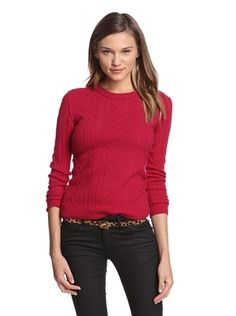 60% OFF Kokun Women's Cable Knit Sweater (Berry)