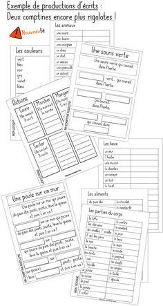 Production d'écrits French Class, Dual Language, Grade 3, Bullet Journal, Classroom, Teaching, Writing, School, Montessori