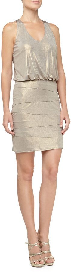 Laundry by Shelli Segal Tiered Skirt Blouson Dress (I like the shoes too!)