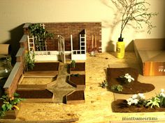 minttumeiramin miniatures: How to start a dollhouse garden  - Finland (in Finnish and English)