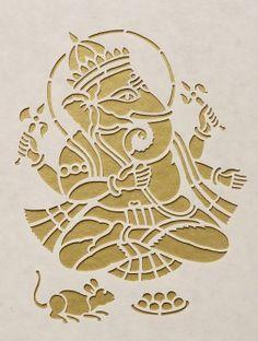 Ganesha Saanjhi Wall Art - 10.2in x 10.2in