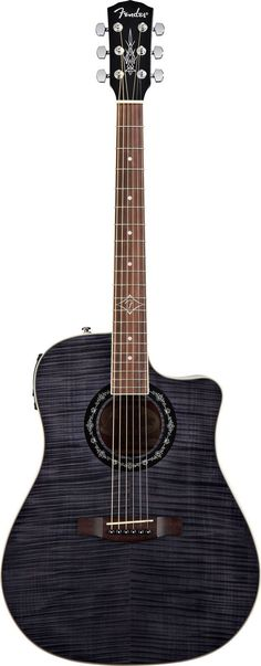 drooling over this gorgeous acoustic-electric guitar: Fender T-Bucket 300 CE (Black) | $300 at
