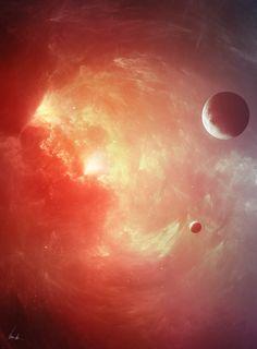 Black Hole's Beauty by KennethJensen.deviantart.com on @deviantART I want The Cradle environment to contrast the destruction inside it.