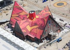 rooftop painting by THEY at the World Expo Malaysian pavilion