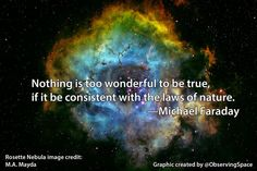 Nothing is too wonderful to be true, if it be consistent with the laws of nature. —Michael #Faraday #WatchingCosmos pic.twitter.com/VZqFnDR2eQ