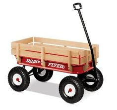 On sale from Target ($99) Radio Flyer Full Size All-Terrain Steel and Wood Wagon: Toys & Games
