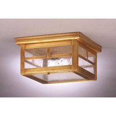 """Northeast Lantern Williams 5"""" Sockets Flush Mount Finish: Antique Copper, Shade Color: Frosted"""