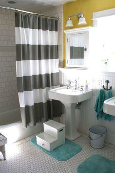 bathroom, love the color combo