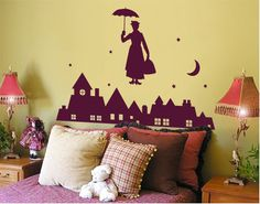 wall decal with Mary Poppins
