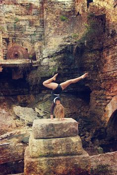 I'd love to travel around the world and capture my growth in yoga and self discovery -yoga handstand by Diana Albrecht