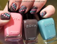 Ashley is PolishAddicted: Zoya Petra gets Spotted with Zoya Shelby and Zoya Wednesday!