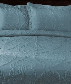 Oversized Solid-Stitched Quilts or Shams  -- aqua