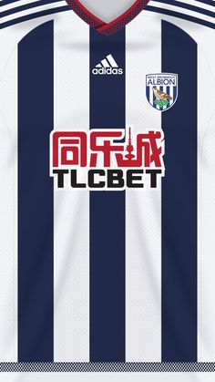 West Bromwich kit home Soccer Kits, Football Kits, Sport Football, Football Jerseys, Football Players, West Brom Wallpaper, Camisa Arsenal, West Bromwich Albion Fc, Classic Football Shirts