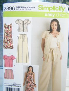 Simplicity 2896 Women's Sewing Pattern Career by WitsEndDesign,