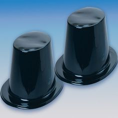 This black top hat is perfect for parties or performances. The hat is made out of a lightweight plastic, so it is comfortable to wear. The hat has patent sheen to make it more show like. Also availabl