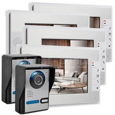 """(274.94$)  Watch here - http://ai8oo.worlditems.win/all/product.php?id=32438075905 - """"DIYSECUR Door Phone Doorbell Home Security Intercom System With 7"""""""" TFT LCD Display 2V4"""""""