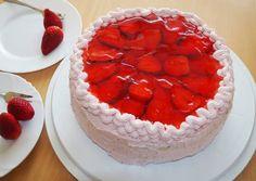 Mascarponés epertorta Torte Cake, Tiramisu, Cheesecake, Food And Drink, Meals, Drinks, Cakes, Art, Mascarpone