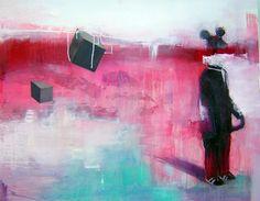 Acrílico y pastel sobre lienzo 100x80cm Ismael Panadero