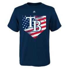 Boys 8-20 Majestic Tampa Bay Rays Patriotic Home Plate Tee $6.00