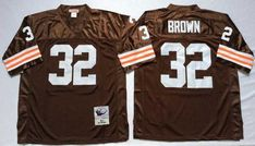 Retro Throwback Jerseys 19 Bernie Kosar 32 Jim Brown