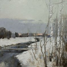 Winter Evening, Alexandr Zavarin- painting winter landscape with birches, impres. Winter Evening, Alexandr Zavarin- painting winter landscape with birches, impressionism Winter Landscape, Landscape Art, Landscape Paintings, Painting Snow, Winter Painting, Impressionist Landscape, Impressionist Paintings, Russian Painting, Russian Art