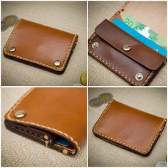 Small Wallet available now at Josephhenryworkshop.ca Small Wallet, Card Case, How To Make, Cards, Handmade, Hand Made, Maps, Playing Cards, Small Purses