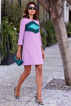 chic clutch with shift dress